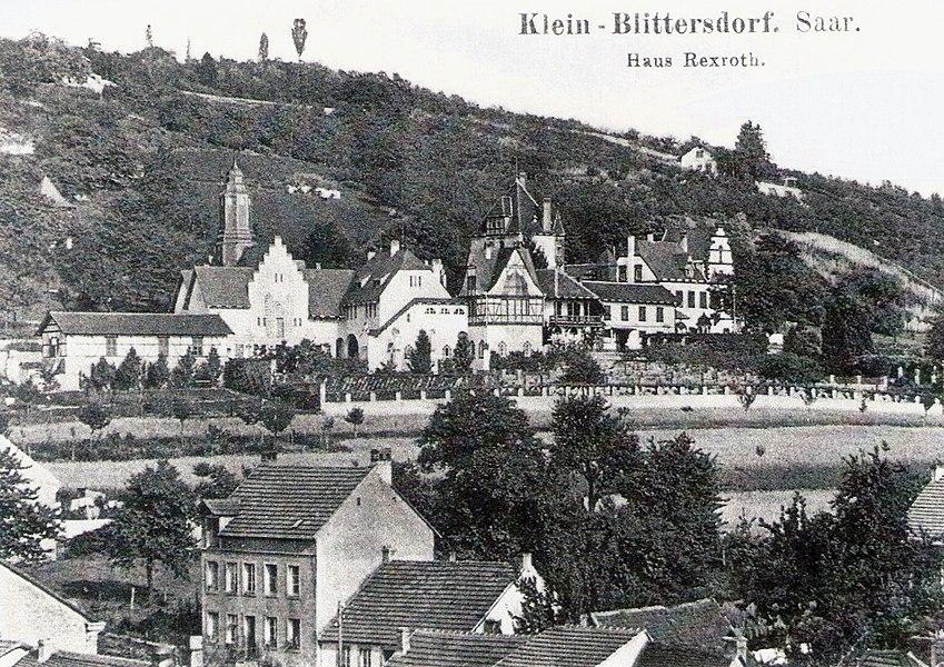 Haus Rexroth in Kleinblittersdorf um 1900