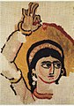 Head of a Dancer, Coptic textile.jpg