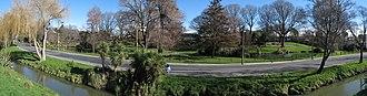 Beckenham, New Zealand - The Heathcote River and Beckenham Park on Eastern Terrace