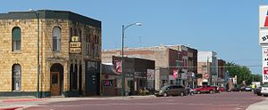 Hebron, Nebraska - Lincoln Avenue, looking southwest from 5th Street (2010)