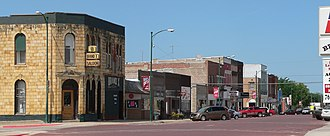 Hebron, Nebraska - Lincoln Avenue, looking southwest from 5th Street (2010)