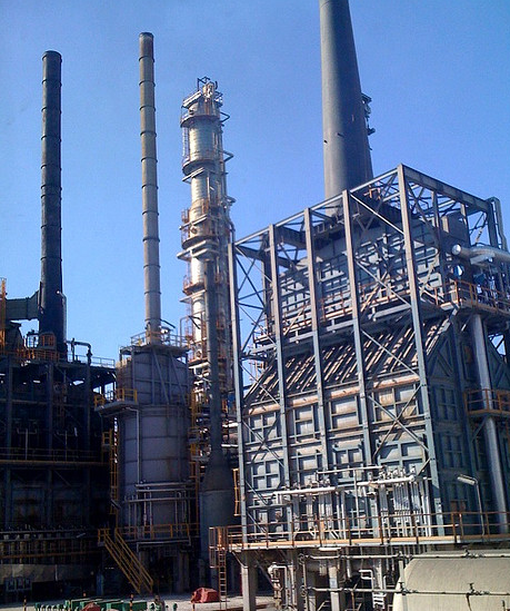 Hellenic Petroleum distillation facility