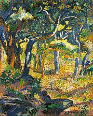 Une clairière en Provence (Étude)