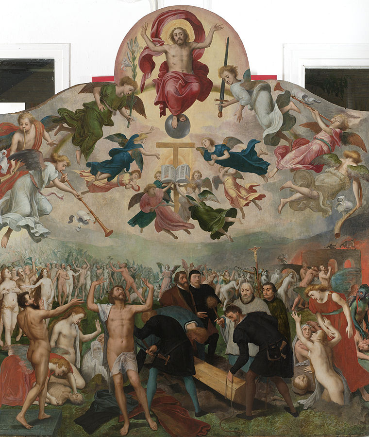 The Last Judgement and the burial of the dead