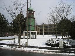 Town hall in town of Hiddenhausen, District of Herford, North Rhine-Westphalia, Germany.