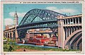 High Level Bridge Looking East Showing the Terminal Tower, Cleveland, Ohio (Date Unknown) (45673571142).jpg