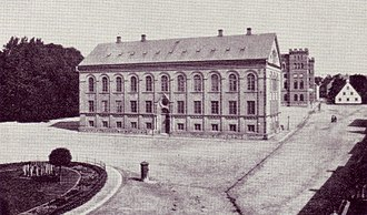 Lund University - View of the Historical Museum building in the 19th century.