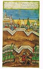 History of Peter I (Krekshin) - Troops at Kolomenskoe and Kozhukhovo.jpg