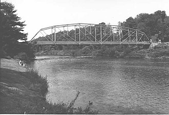 Lawrence Township, Clearfield County, Pennsylvania - The Hogback Bridge over the West Branch Susquehanna River