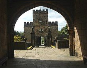 Hoghton Tower - Gateway seen through the entrance to the inner courtyard