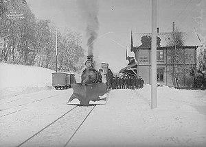 Narrow-gauge railways in Norway - Holmestrand Station on the Vestfold Line in 1906