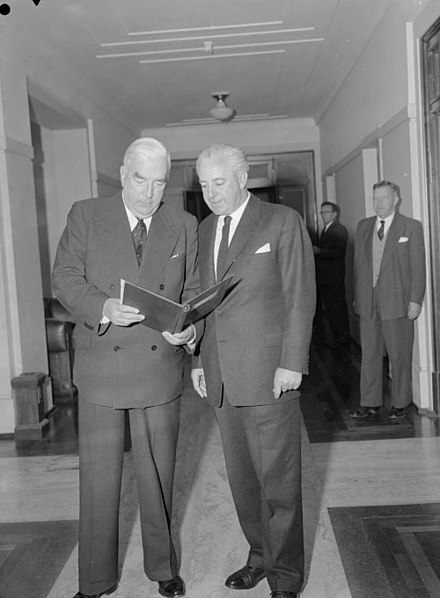 Menzies with Treasurer Harold Holt Holt and Menzies.jpg