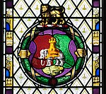 Holy Trinity Church, Coventry - Coventry symbols detail in stained glass.jpg
