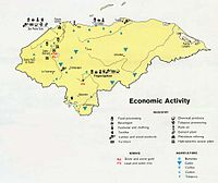Economic activity map of Honduras, 1983