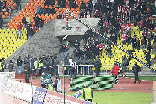 Hooligans of Spartak Moscow