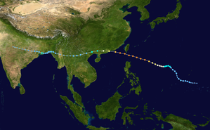 Typhoon Hope (1979) - Image: Hope 1979 track