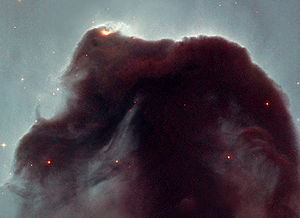 Cosmic dust - Cosmic dust of the Horsehead Nebula as revealed by the Hubble Space Telescope.