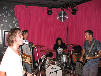 Hot Snakes - Left to right: Froberg, Wood, Rubalcaba, and Reis in 2011