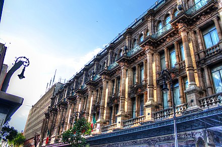 French-styled architecture in Benito Juárez, Mexico City, whose architectural legacy remains in the neighborhoods of Condesa, Zona Rosa, Centro Historico and Chapultepec. Hotel Ciudad de México - panoramio.jpg