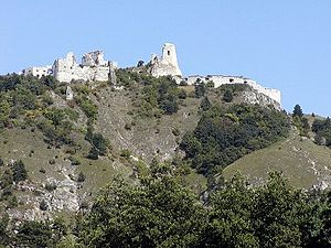 Čachtice Castle - Image: Hrad Cachtice