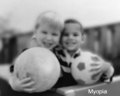 Human eyesight two children and ball with myopia short-sightedness.png