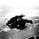 Humboldt Glacier, Calving Terminus with Bedrock Outcrop, July 18, 1964 (GLACIERS 1687).jpg