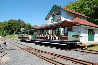 Huntsville and Lake of Bays Transportation Company - Rotary Village Station operated by the Huntsville and Lake of Bays Railway Society