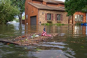 Effects of Hurricane Isabel in Maryland and Washington, D.C. - Image: Hurricane Isabel flood damage Maryland