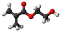 Hydroxyethyl methacrylate molecule ball.png