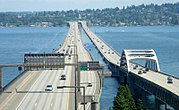 I-90 floating bridges looking east
