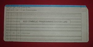 IBM 1620 - IBM 1620 SPS card.
