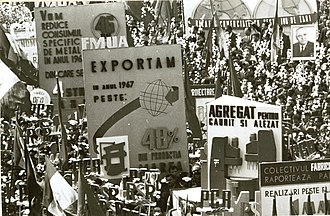 International Workers' Day - A 1 May rally in Bucharest in 1967