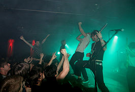 The Dillinger Escape Plan performing in Boedapest in 2008.