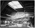INTERIOR, TRUSS ROOF, LOOKING SOUTHWEST - Eagle Hotel Garage, 102 1-2 North Main Street, Concord, Merrimack County, NH HABS NH,7-CON,3A-4.tif