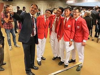 International Physics Olympiad - Singaporean IPhO team with the current IPhO president Rajdeep Singh Rawat