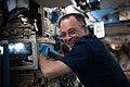 ISS-55 Ricky Arnold performs maintenance inside the Destiny lab.jpg