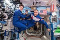 ISS-57 Anne McClain and David Saint-Jacques inside the Destiny lab.jpg