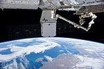 ISS-RapidScat nadir adapter removed from CRS-4 Dragon trunk (ISS041E047410).jpg