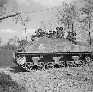 1st Canadian Armoured Carrier Regiment - A Priest Kangaroo in Italy, April 1945