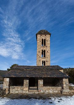 The Romanesque church of Sant Miquel d'Engolasters