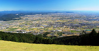 Nōbi Plain - View of the Nōbi Plain from Mount Ikeda