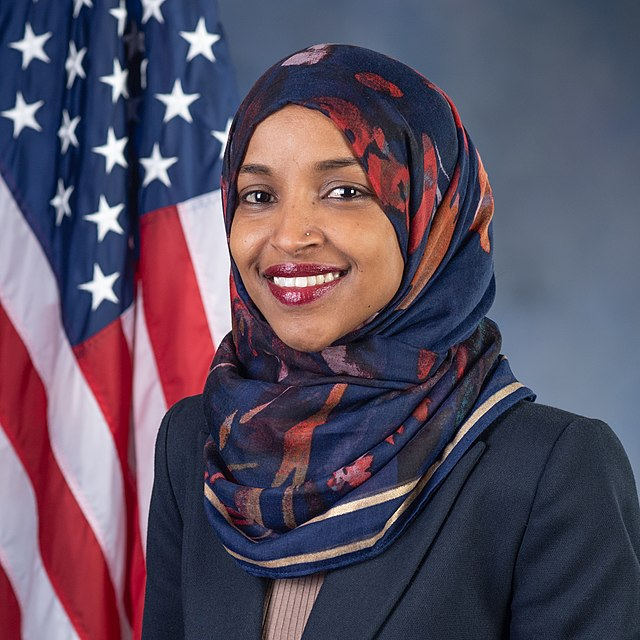 Ilhan Omar, official portrait, 116th Congress (square)