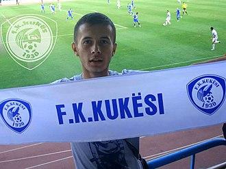 Zeqir Ymeri Stadium - Ilirjan Thaçi (1995–2012), during an FK Kukësi game at the Zeqir Ymeri Stadium.