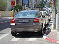 Illegally parked diplomatic vehicle in Tel Aviv 2.JPG