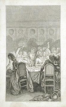 Daniel Chodowiecki: Illustration von Bretzners Roman Das Leben eines Lüderlichen, Los Angeles County Museum of Art (Quelle: Wikimedia)