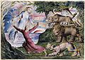 Illustrations to Dante's Divine Comedy, object 1 Butlin 812-1Dante Running from the Three Beasts.jpg