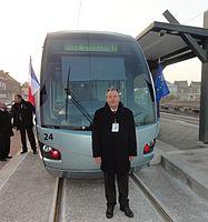 Inauguration de la branche vers Vieux-Condé de la ligne B du tramway de Valenciennes le 13 décembre 2013 (029).JPG