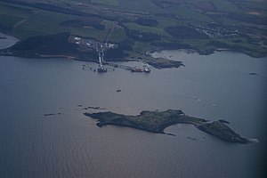 Inchcolm - An aerial shot of Inchcolm