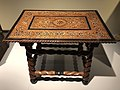 India Goa 17th C - table in teak ivory ebony rosewood IMG 9500 Museum of Asian Civilisation.jpg