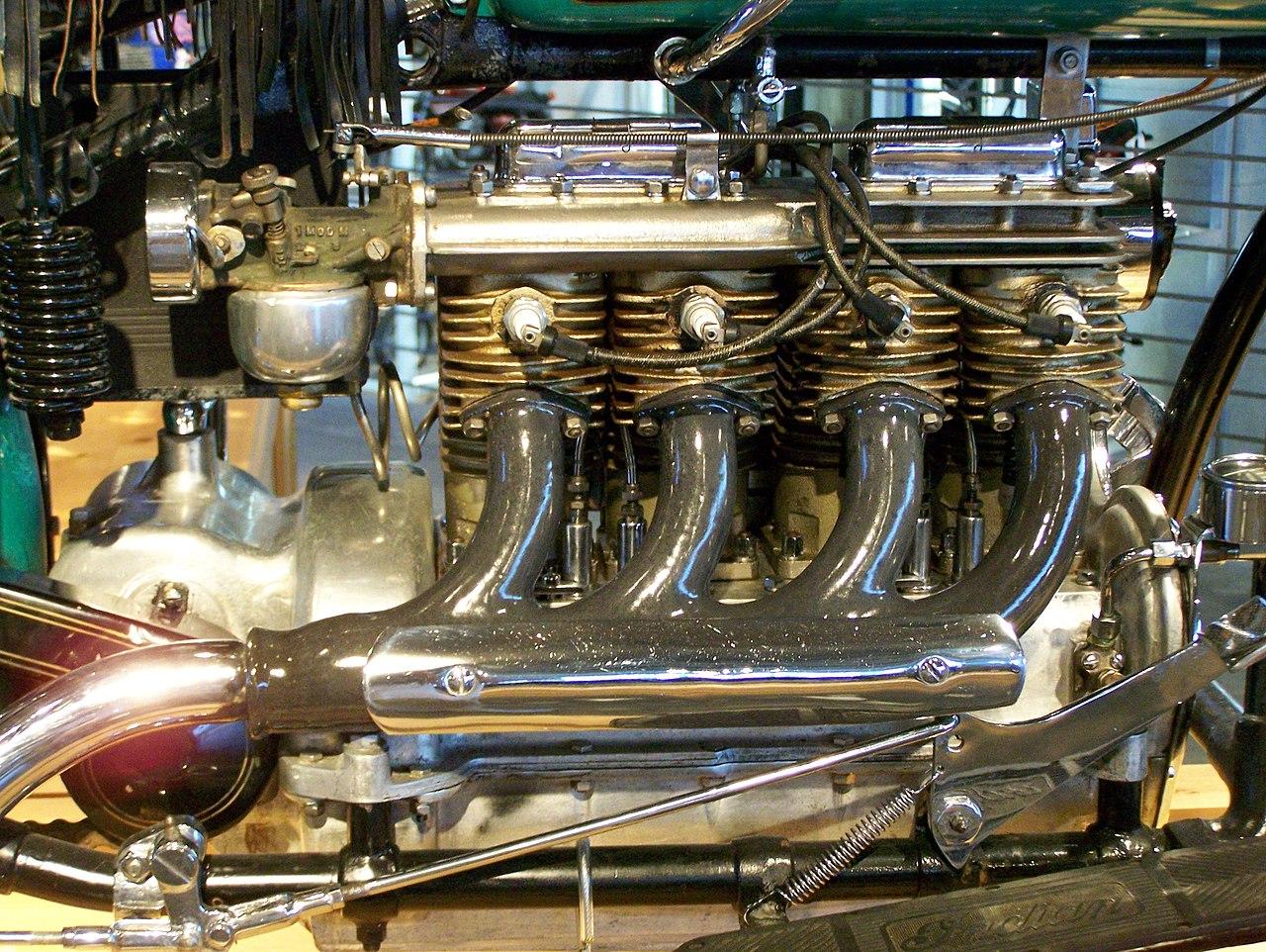 Barber Vintage Motorsports : File:Indian 4 engine at Barber Vintage Motorsports Museum.jpg ...